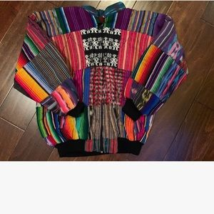 Vintage 90's Hippie Thick Lined Zip Up Jacket
